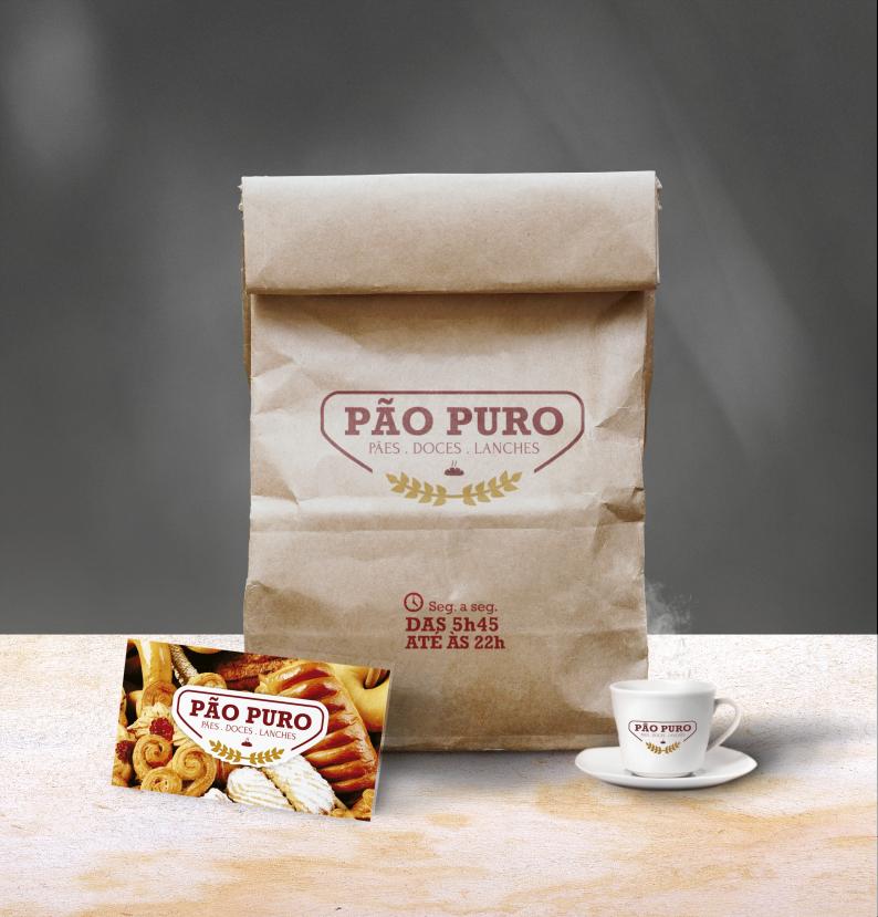 Logo para padaria Pão Puro