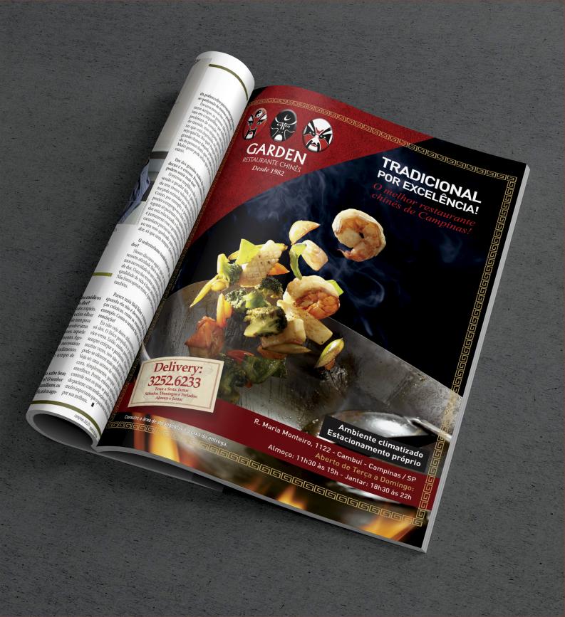 Anúncio de Revista Garden restaurante chinês