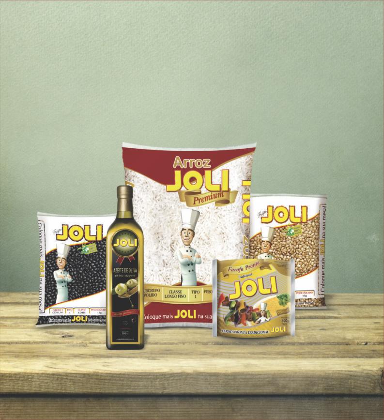 Embalagens dos produtos Joli Alimentos