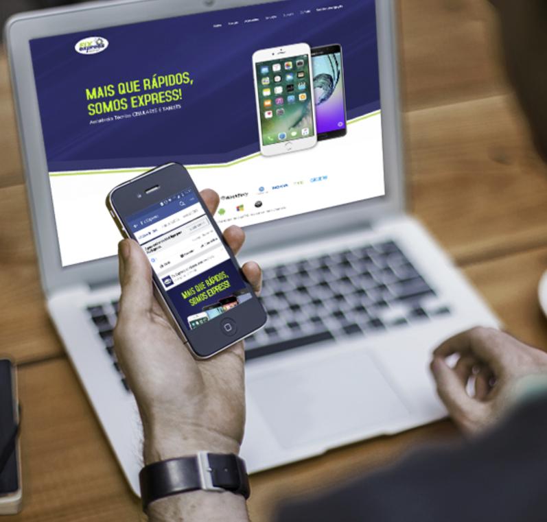 Site e gestão de mídias sociais Fix Express