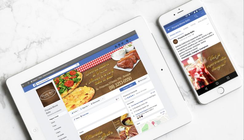 Gestão mídias sociais Monte Bello Pizza Bar Grill