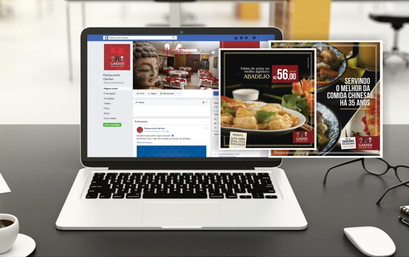 Gestão de mídias sociais Garden Restaurante Chinês